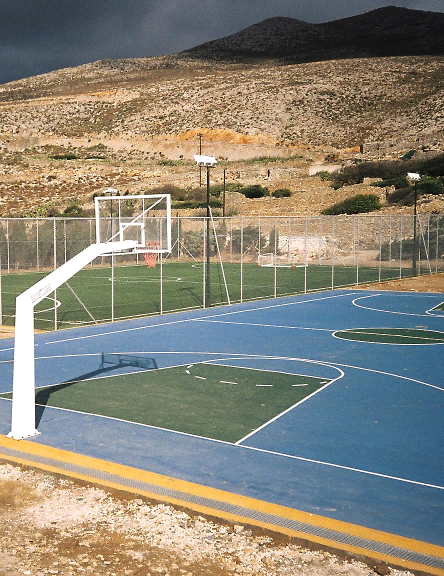 Construction of sports facility and installation of sports equipment, Chora, Amorgos island