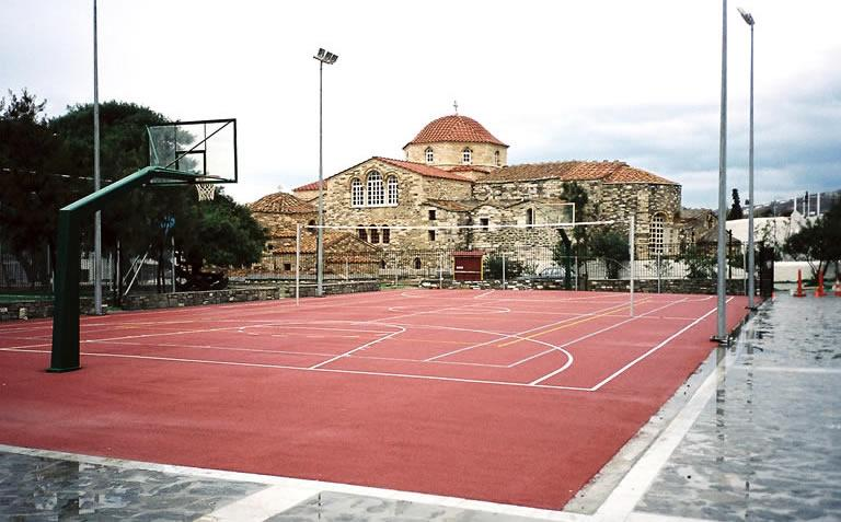 Renovation of sport facilities in school complexes, Paros island